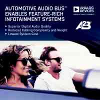 Ford Motor Company Selects Analog Devices' Automotive Audio Bus™ for its Next-Generation Infotainment Systems