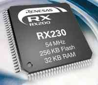 Renesas Electronics Europe Reveals RX230 Group That Extends the RX231 Group of 32-bit MCUs