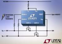 High Power Negative Supply Ideal Diode-OR Controller Withstands ±300V Transients
