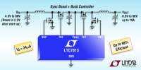 60V Low IQ Dual Output Boost + Buck Synchronous DC/DC Controller Maintains Voltage Regulation in Automotive Systems