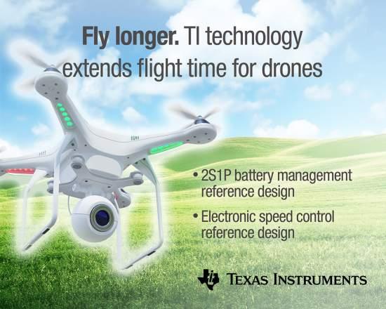 TItechnologyextendsflighttimeandbatterylifeofquadcoptersandindustrialdrones