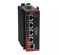Red Lion's Sixnet series SLX unmanaged industrial Ethernet switches designed for extreme applications