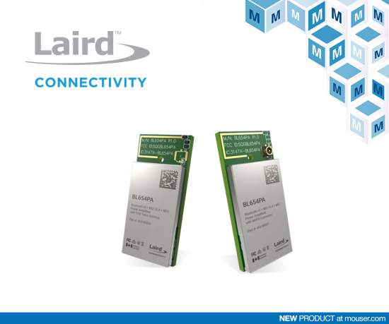 Laird BL654PA Modules for Bluetooth 5 and Thread Implementation Now at Mouser Electronics