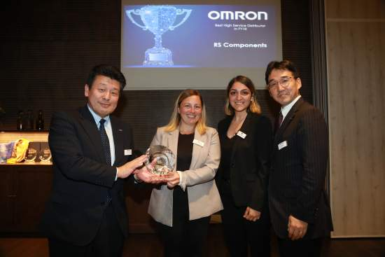 RS Components wins major distribution award from Omron