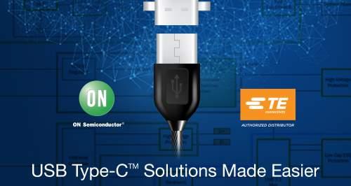 MouserAnnouncesNewUSBType-CSolutionPage,FeaturingVersatileProductsfromONSemiconductorandTEConnectivity