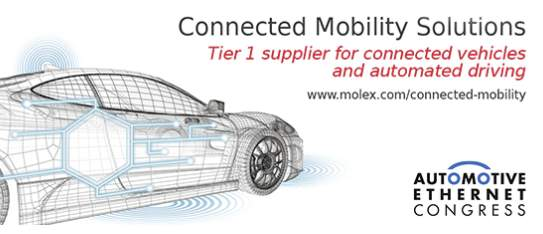 Molex Showcases Next-Generation In-Vehicle Communication Networks at the Automotive Ethernet Congress 2020