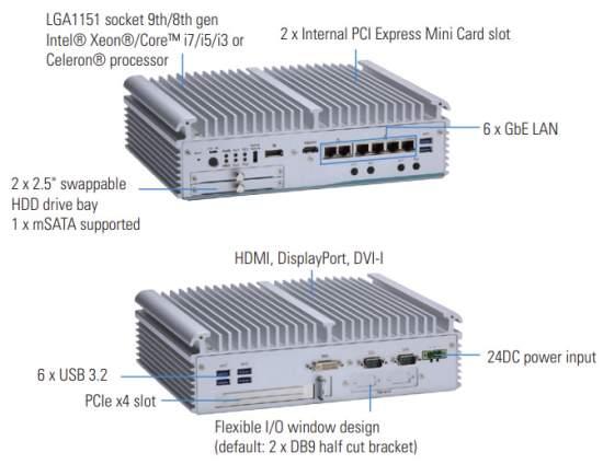 AxiomtekeBOX710-521-FL-AWorkstation-gradeFanlessEmbeddedSystemforEdgeComputing