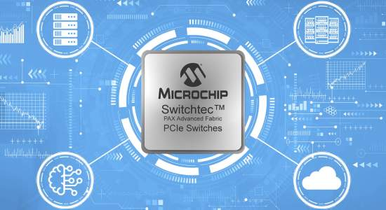 Microchip Switchtec™ PAX Advanced Fabric Gen 4 PCIe Switches Released to Production