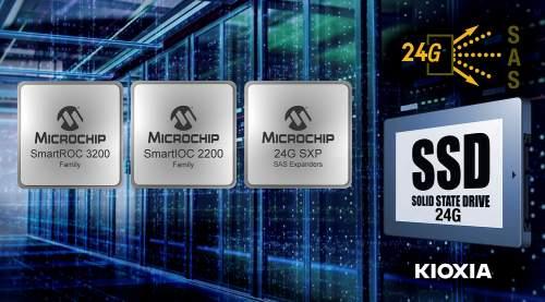 MicrochipTechnologyandKIOXIAAmericaSuccessfullyCompletetheIndustry'sFirst24GSASEnd-to-EndStorageInteroperabilityTesting