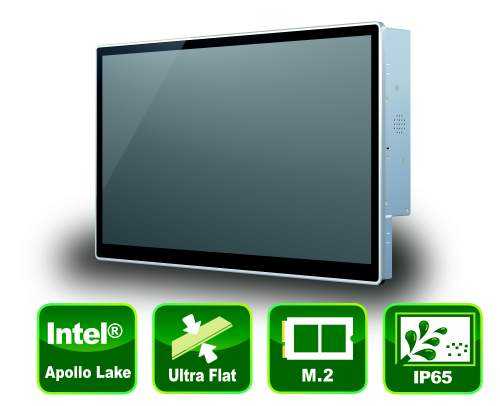 "Industrial 21.5"" Panel PC with True-Flat PCAP Touch Screen"